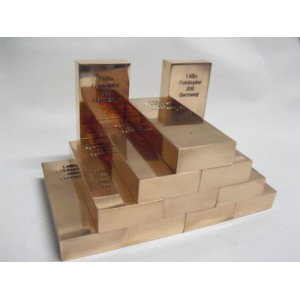 10 kg Kupferbarren 999 fein copper kupfer 10 x 1000g