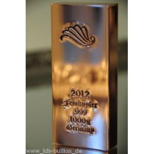 1 kg Kupferbarren 999 fein copper kupfer 1 X 1000 gr. NEU Cleopatra 2012