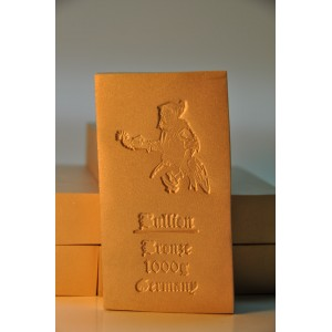 1000 gramm Bronzebarren Seidenmatt