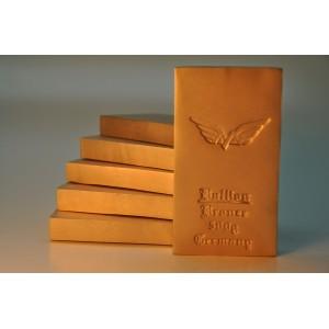 500 gramm Bronzebarren Seidenmatt