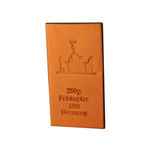 250 gramm Kupferbarren Seidenmatt