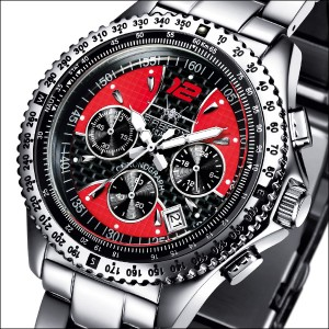 FIREFOX Chronograph BLACK CARBON RACER FFS15-105 rot