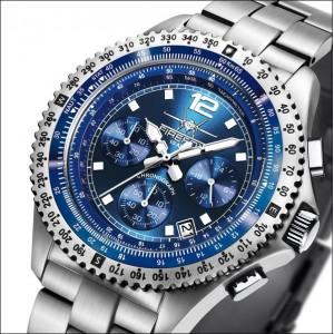 FIREFOX Herrenuhr FIGHTER Chronograph FFS05-103 blau