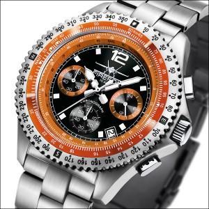FIREFOX FIGHTER Herren Chronograph FFS05-107 schwarz/orange