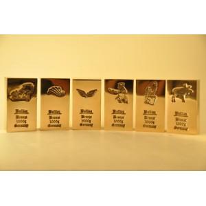 6 x 1 kg Bronzebarren fein Bronze wie Kupferbarren