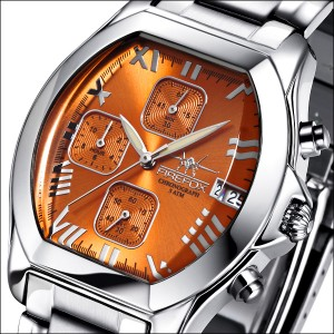 FIREFOX Damenuhr Chronograph NEBUKADNEZAR FFS175-107 sunray orange