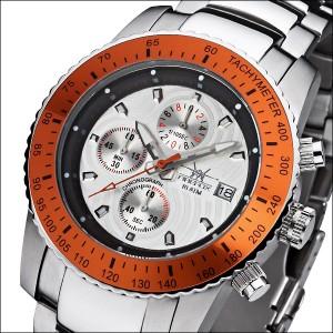 FIREFOX Stahl Chronograph FFS18-107 Blatt silber/orange