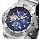 FIREFOX ERASER Edelstahl Chronograph FFS16-103 blau